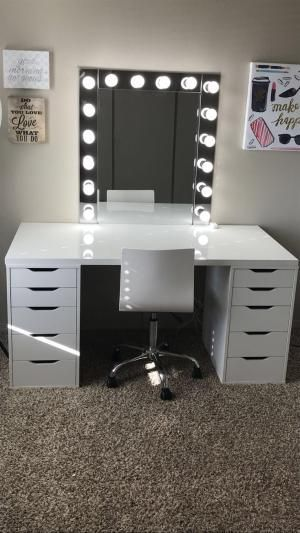 Make-Up Raum Inspiration! Ich Liebe Diese Eitelkeit In Meinem Makeup-Raum! Ikea Alex Schubladen Make-up Raum Inspiration! Ich liebe diese Eitelkeit in meinem Makeup-Raum! Ikea Alex Schubladen Makeup Diy Crafts diy makeup vanity projects