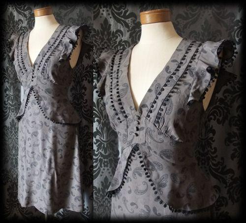 Peplum Tea Dress - Victorian Vintage