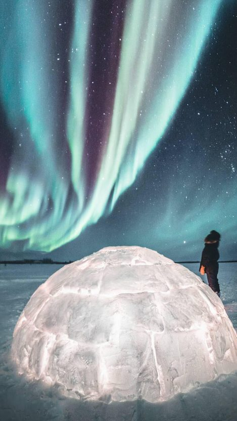 Northern Lights Greenland iPhone Wallpaper GetIntoPik