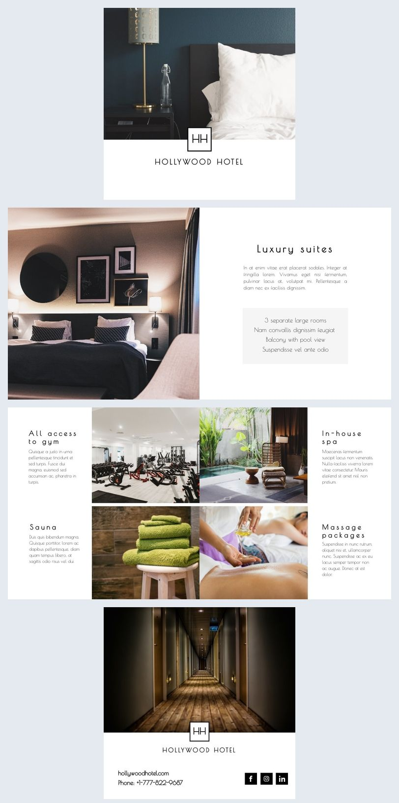 Hotel Information Brochure Template Hotel Marketing Design Brochure Design Layout Hotel Brochure