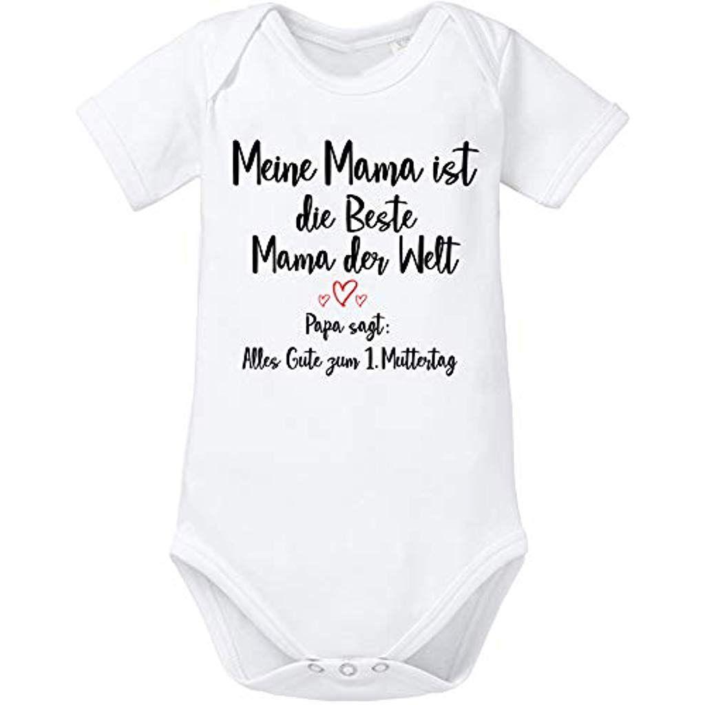 Alles Gute zum Muttertag Mama Spruch Baby Bio-Kurzarm-Body
