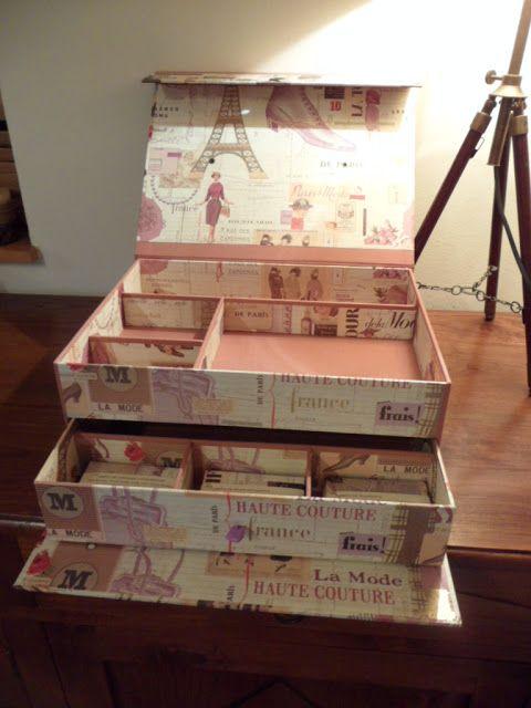 de cart n y trapo malet n para el maquillaje crafting pinterest geschenk und ideen. Black Bedroom Furniture Sets. Home Design Ideas