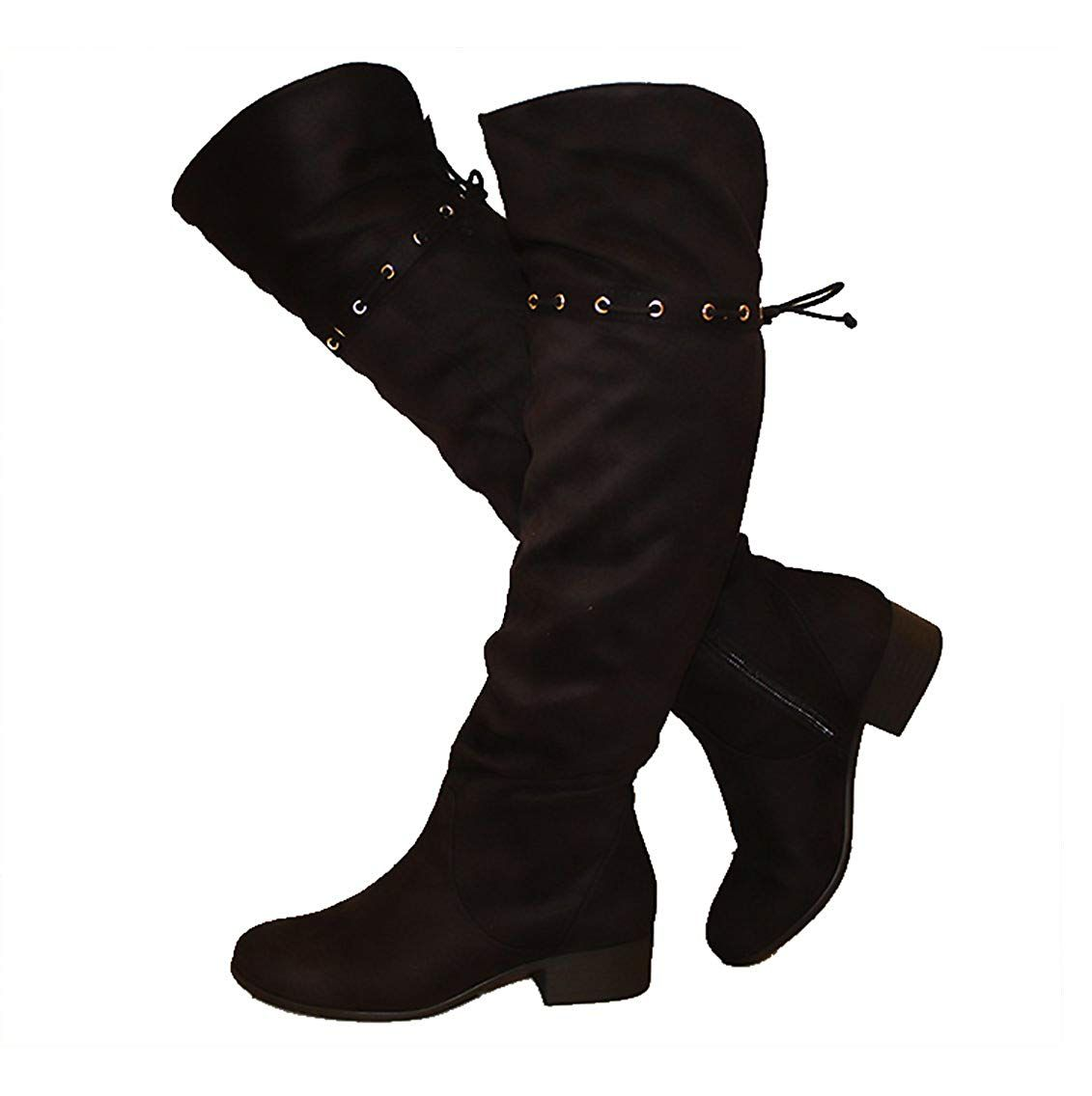 City Classified Knee Knee Classified Slouchy Western InspiROT Stiefel w INTERLACING ... c4f5f9