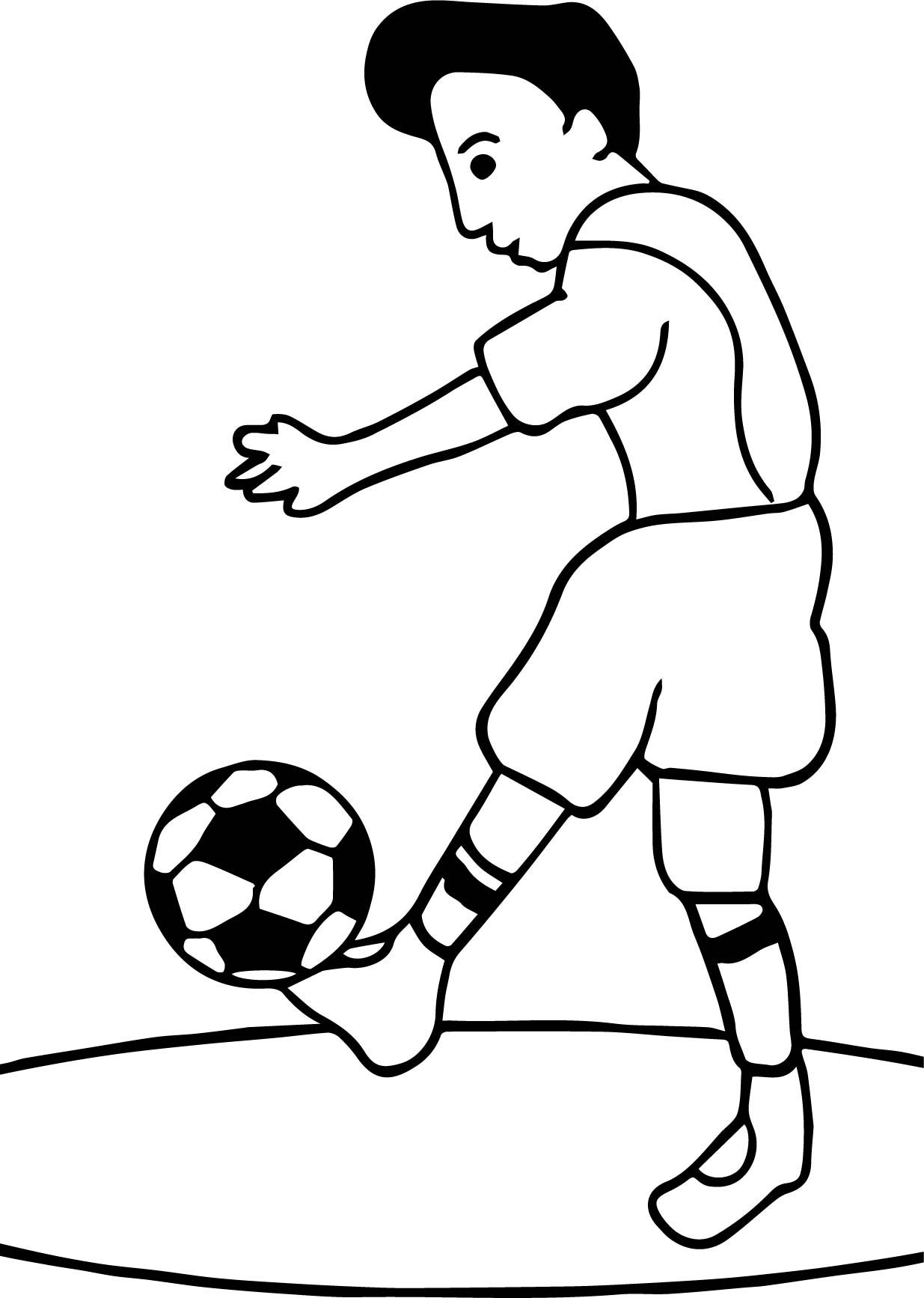 awesome Footy Club Playing Football Soccer Coloring Page