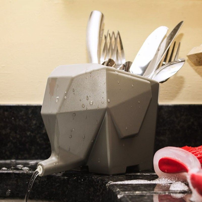 Egouttoir A Vaisselle Original Elephant Commentseruiner Accessoires Cuisine Egouttoir A Couverts Couvert