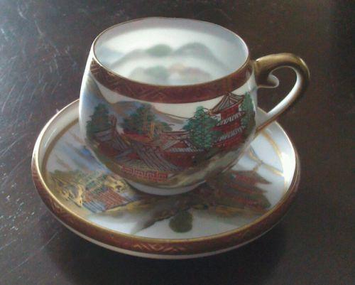nippon eggshell porcelain | Koshida Japan Porcelain China w Gold Decorated Eggshell Tea Cup and ...