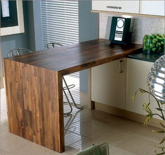 cuisine avec plan de travail et jambage en bois massif. Black Bedroom Furniture Sets. Home Design Ideas