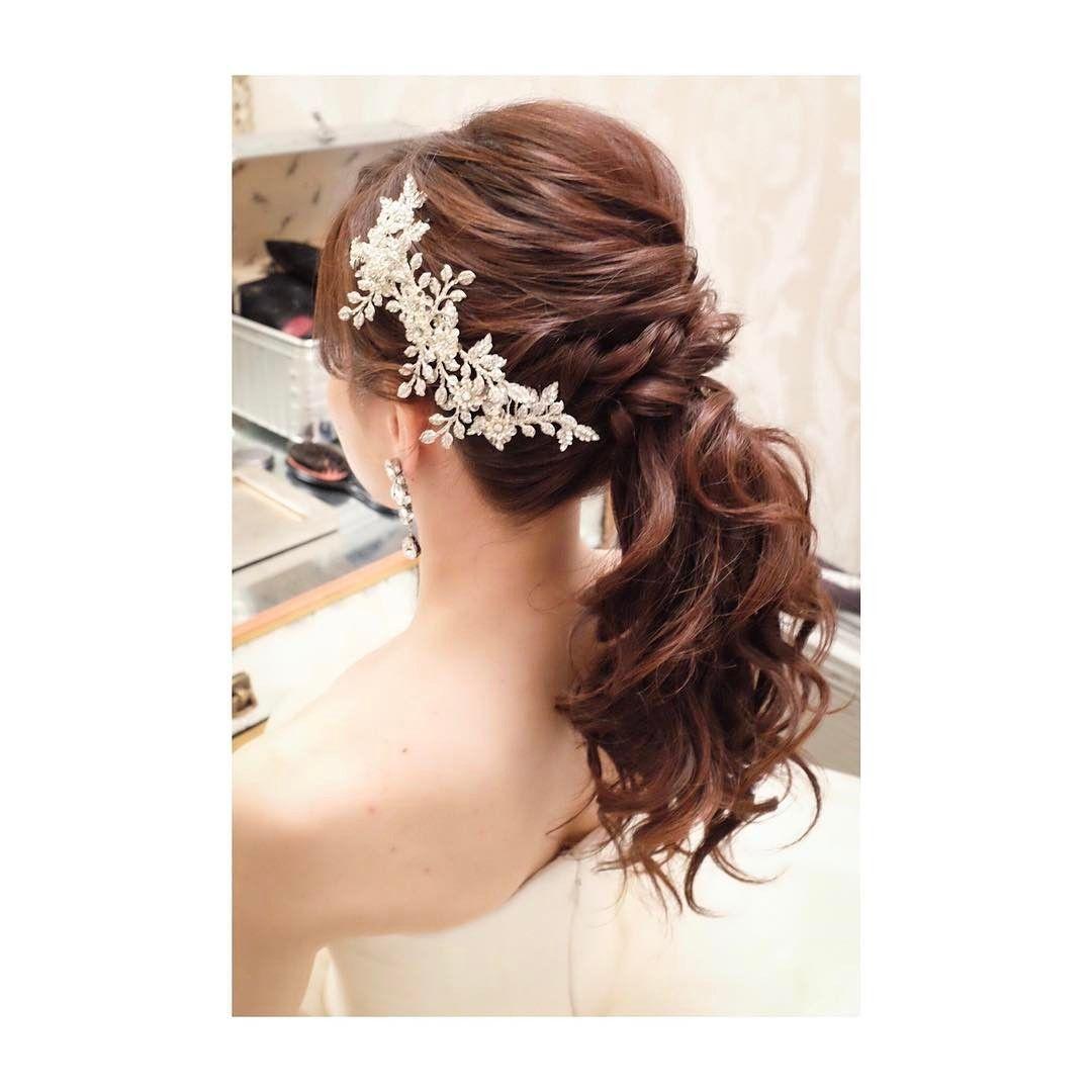 アレンジポニーテール Hair Makeup Wedding Photoshooting Camera