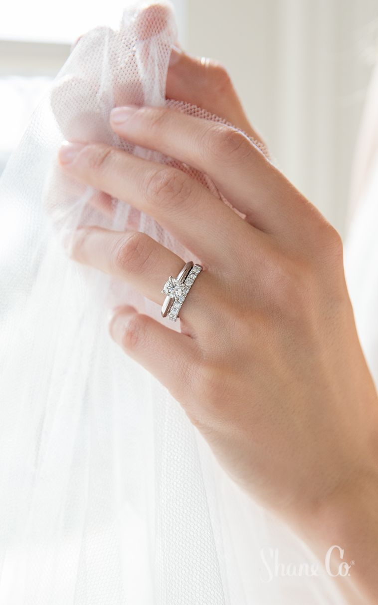 Pairing A Simple Solitaire Engagement Ring With A Diamond Wedding