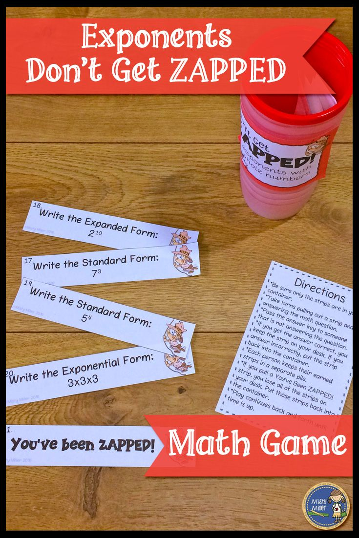 Exponents with whole numbers dont get zapped math game expanded exponents with whole numbers dont get zapped math game expanded form standard form and early finishers falaconquin