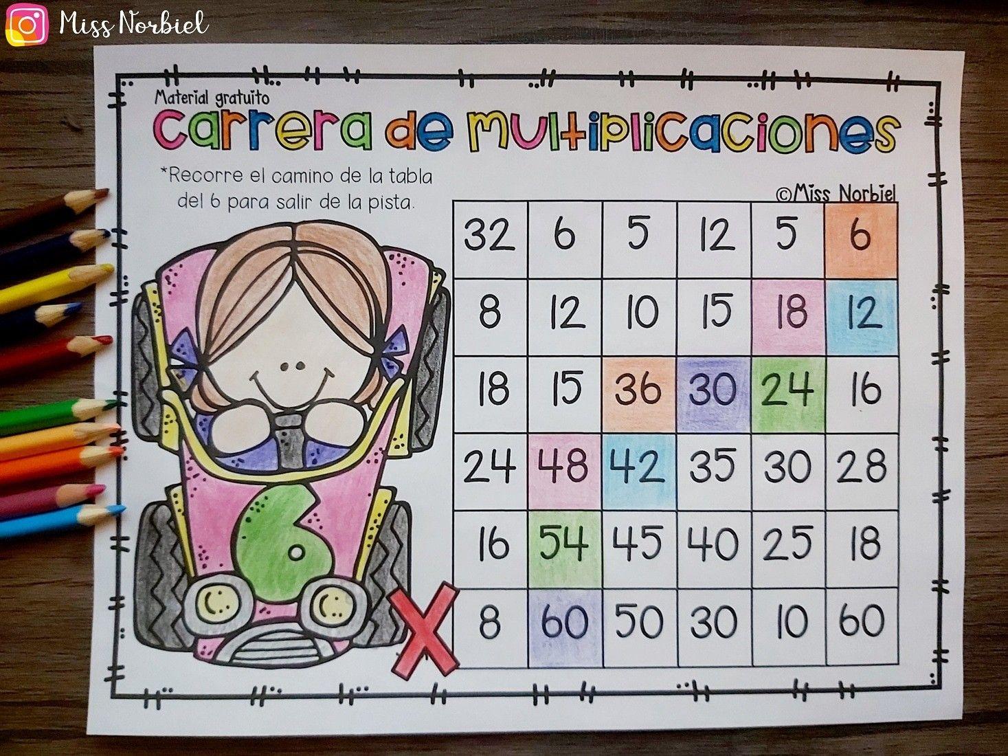 Carrera De Multiplicaciones Teacherspayteachers Games