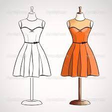 Resultado De Imagem Para Manequim Desenho Vestido Esbocos De