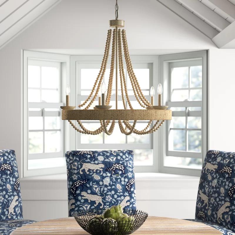 Mistana Duron 5 Light Empire Chandelier Reviews Wayfair Dining Chandelier Coastal Living Room Furniture Wagon Wheel Chandelier