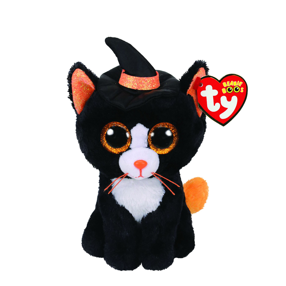 Ty Beanie 2020 Halloween Babies Ty Beanie Boo Small Witchie the Cat Plush Toy in 2020 | Cat plush