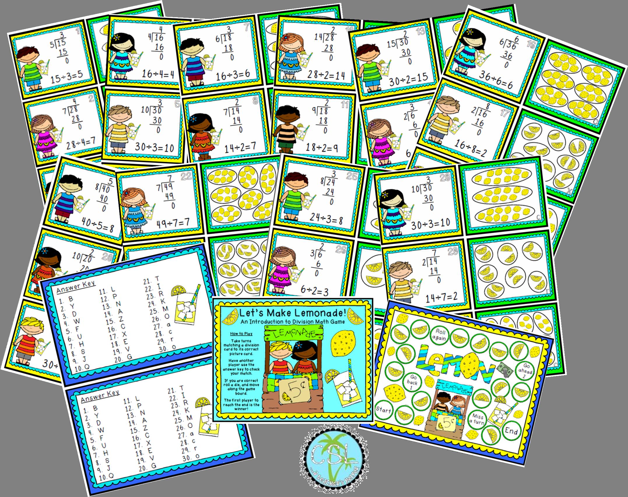 Beginning Division Game 30 Division Task Cards