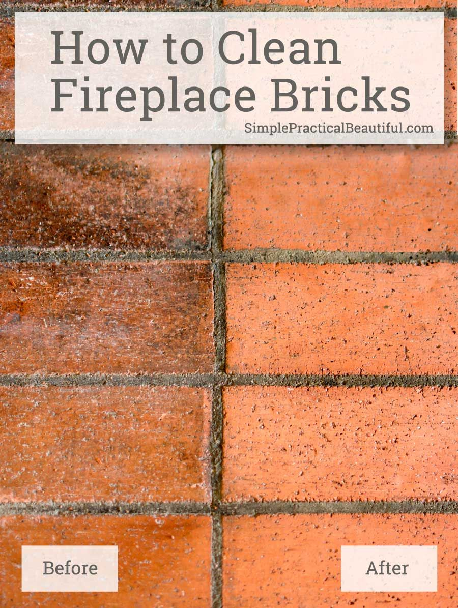 how to clean fireplace brick and mortar