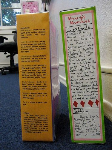example of cereal box book report School Pinterest Cereal