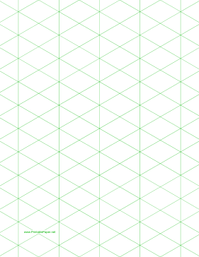 Isometric Graph Paper With Inch Figures On LetterSized Paper