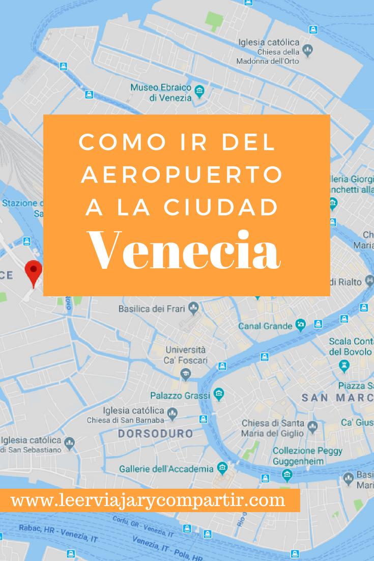 Aeropuertos De Italia Mapa.Recomendaciones Para Llegara Venecia Desde El Aeropuerto