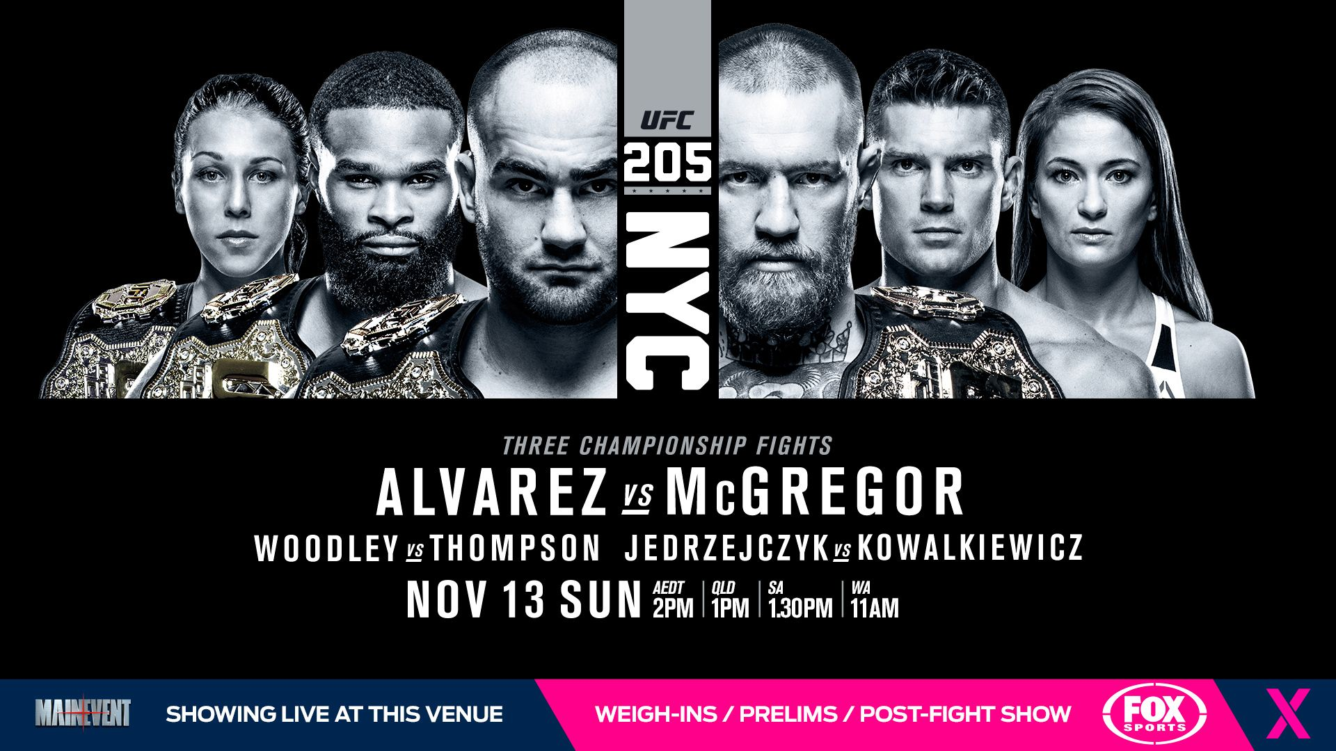 Wallpaper For Ufc 205 Ufc Fight Night Tv Channel