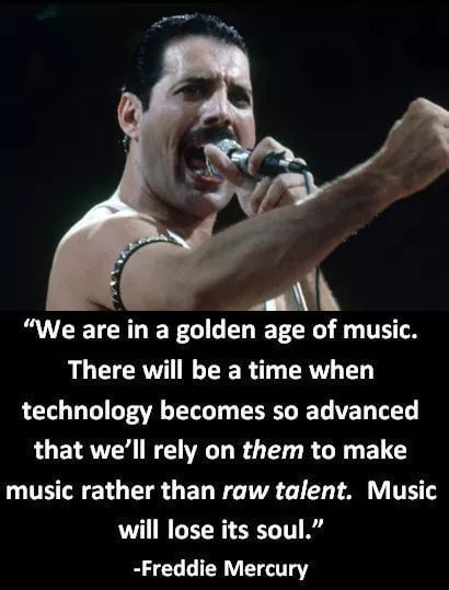 Freddie Mercury predicting the future