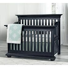 Oxford Baby Harlow 4in1 Convertible Crib Midnight Slate