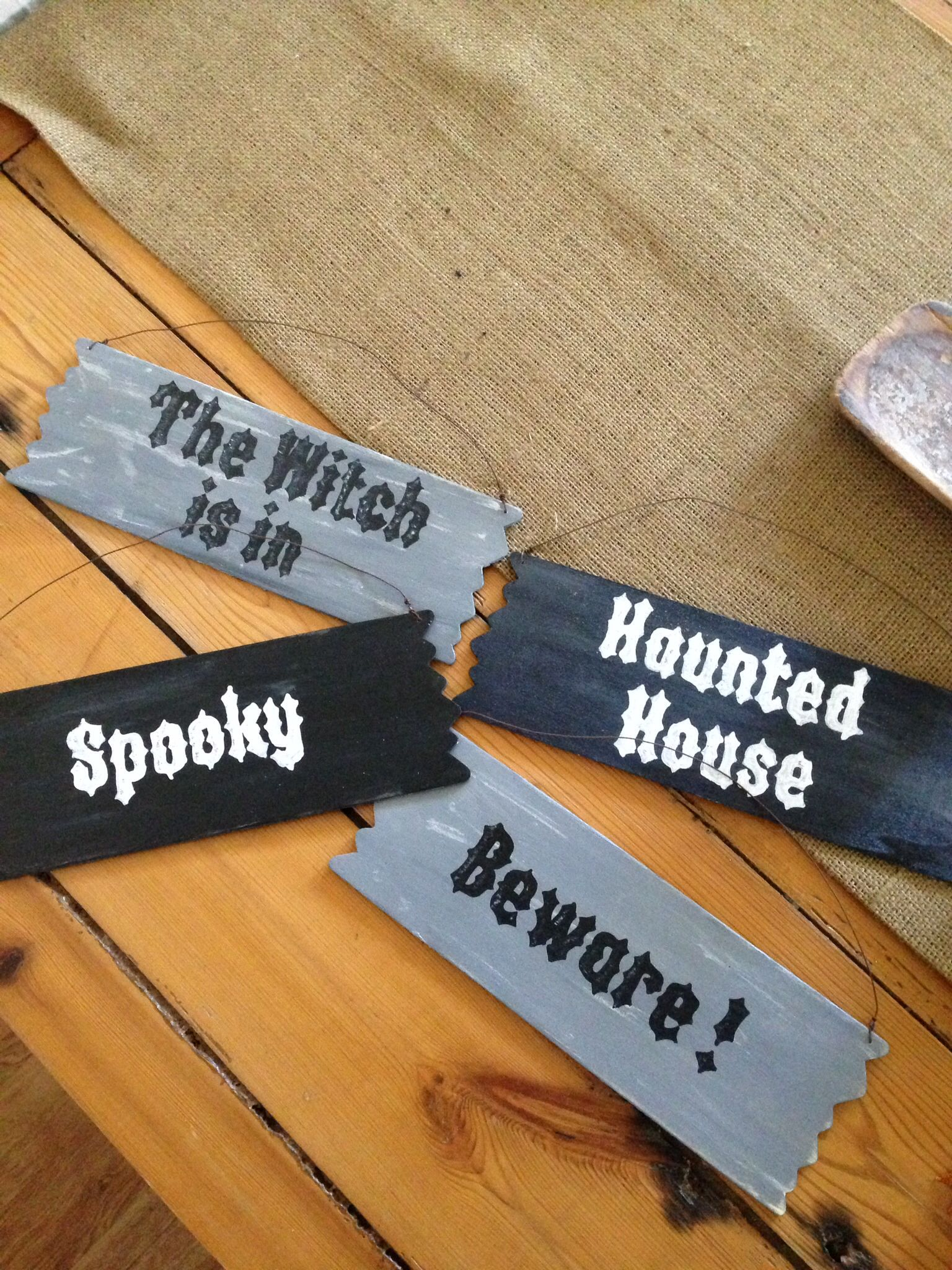 New signs for Halloween