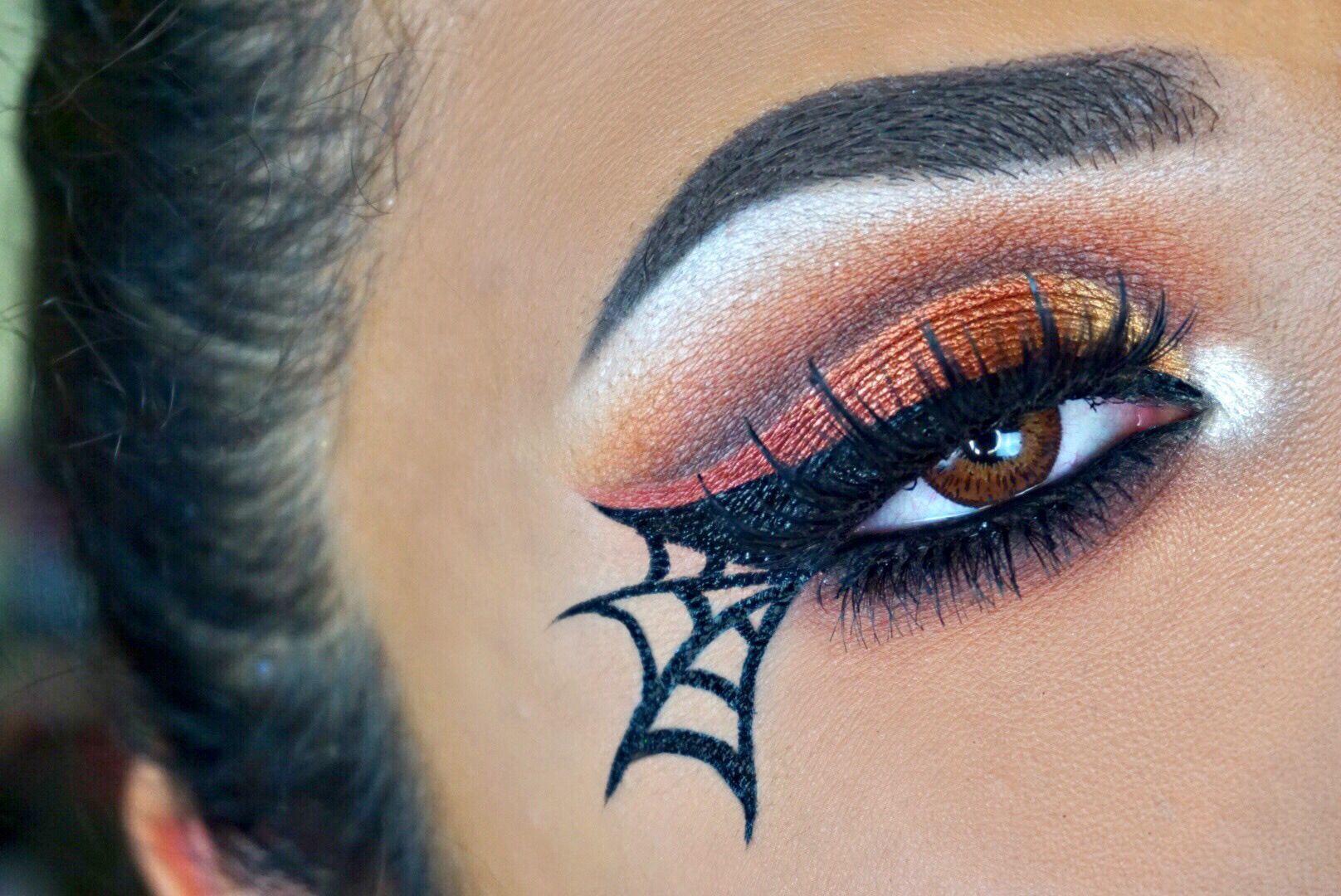 Spider Web Eye Makeup Halloween Makeup Halloween Eye Makeup Halloween Makeup Pretty Halloween Spider Makeup