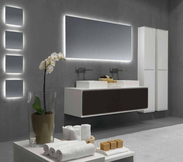 miroir salle de bains lumineux de luxe par les top designers ... - Meuble Salle De Bain Design Italien