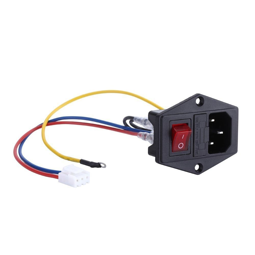 Male Power Socket 10a 250v Inlet Module Plug 5a Fuse