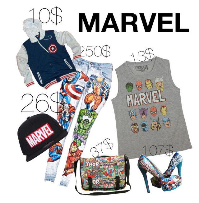 """Marvel fan"" by shev-1 ❤ liked on Polyvore"