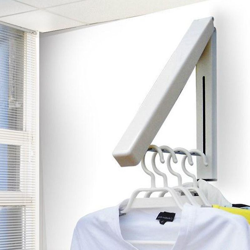 Triangle Sturdy Retractable Hanger Clothes Wall Hanging Storage System Hotel Home Storage Tool Clothes Hanger Rack Clothes Hanger Folding Walls