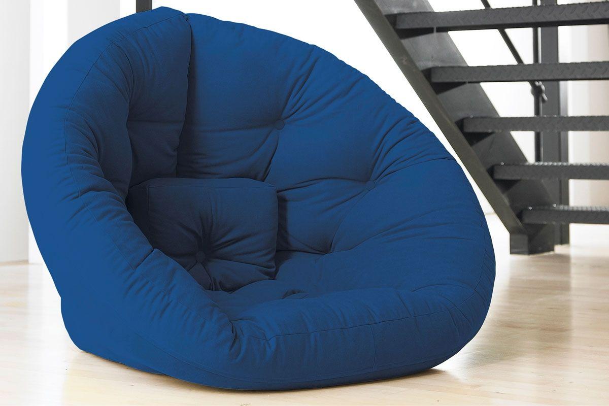 Fauteuil futon Nido Bleu roi fauteuil