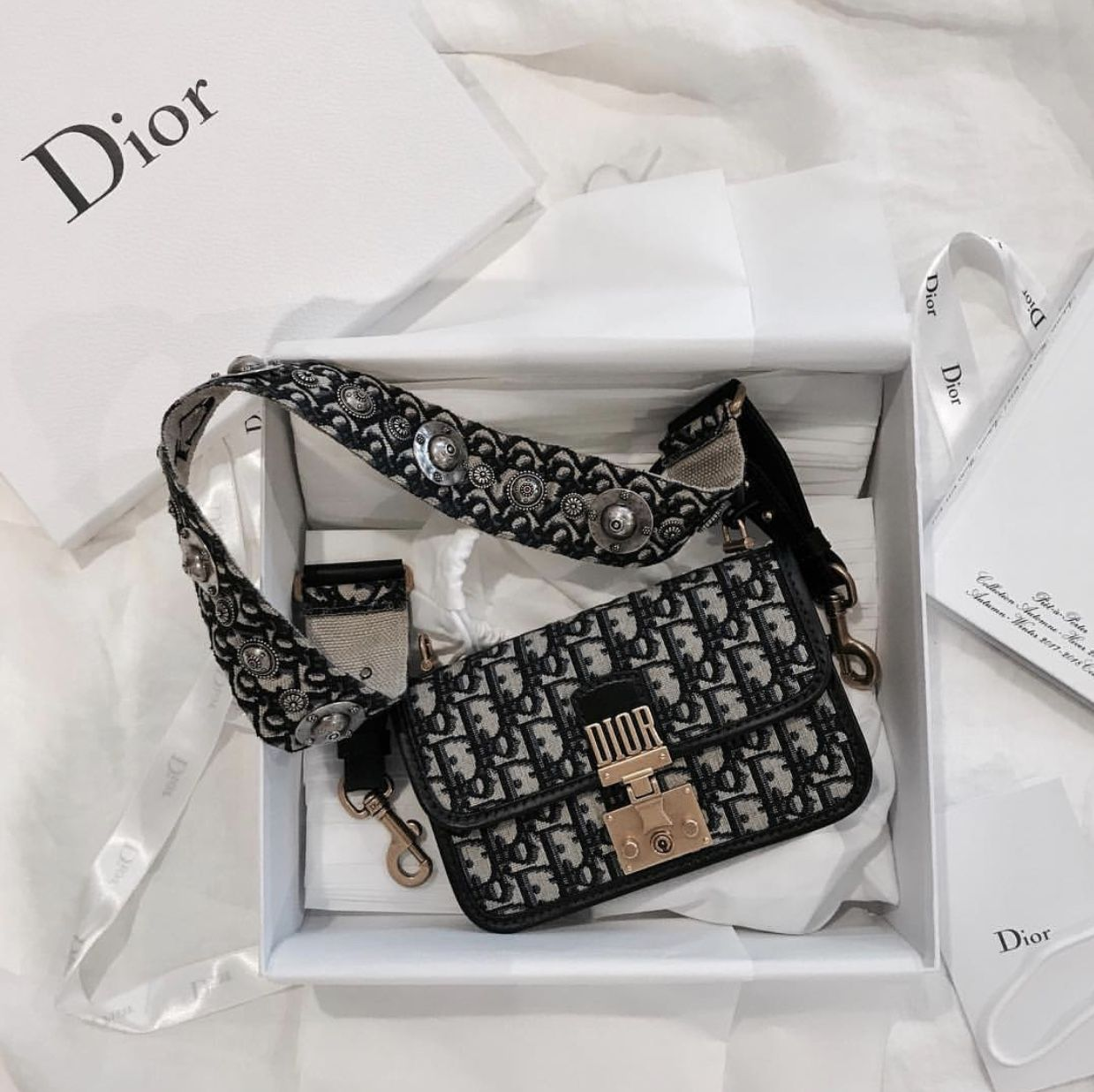 11961479c3 Dior Addict Flap Bag in Dior Oblique Canvas | I wear it! in 2019 ...