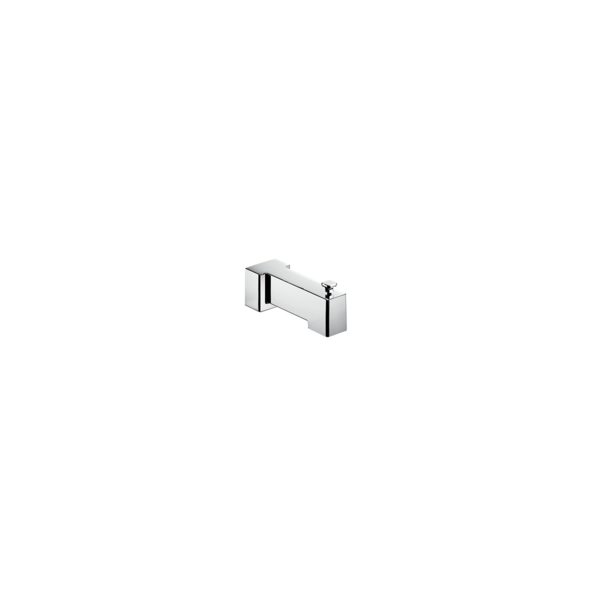Moen S3896 7 1 4 Wall Mounted Tub Spout With 1 2 Slip Fit Connection From The 90 Degree Collection With Diverter Chr Tub Spout Wall Mount Tub Faucet Moen