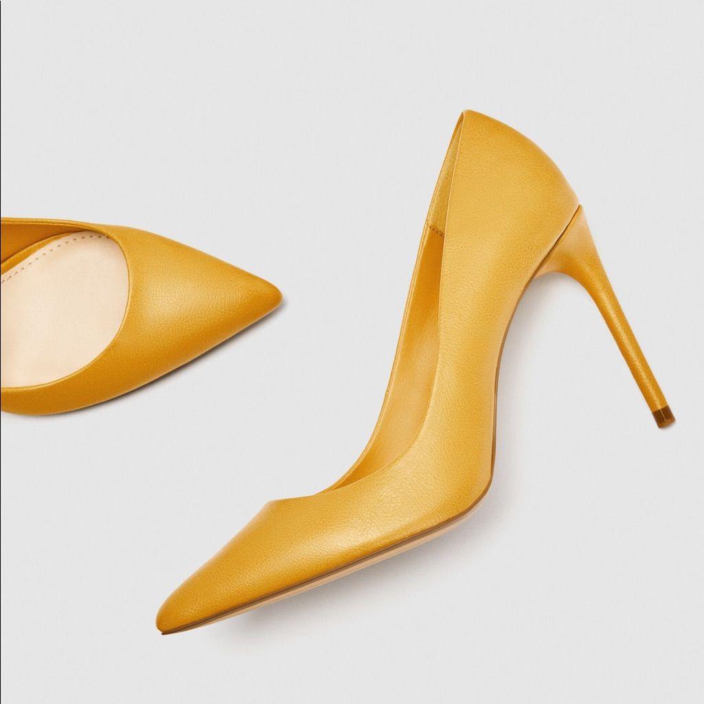 Zara Yellow High Heels Shoes Yellow High Heel Shoes Yellow High Heels Shoes Women Heels