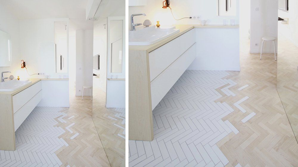 Best 25 pose de parquet ideas on pinterest pose parquet for Pose parquet salle de bain