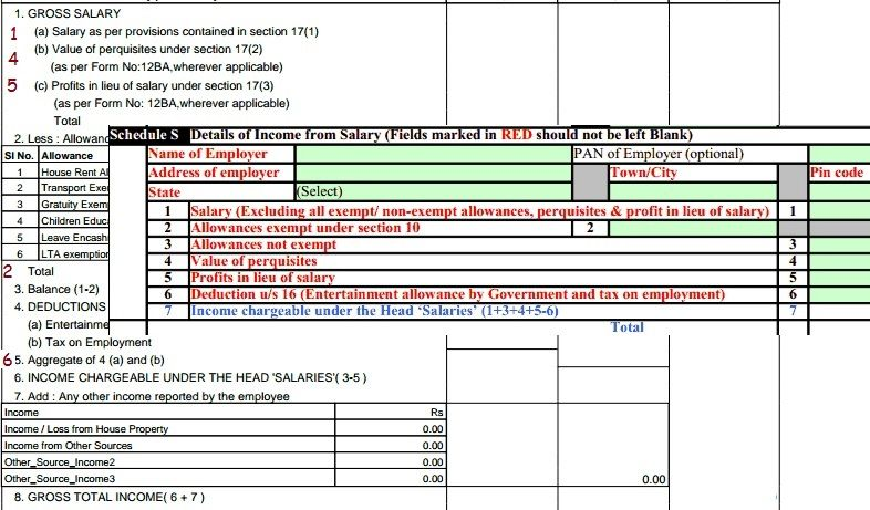 Form  And Itr Income From Salary  How To Fill Itr