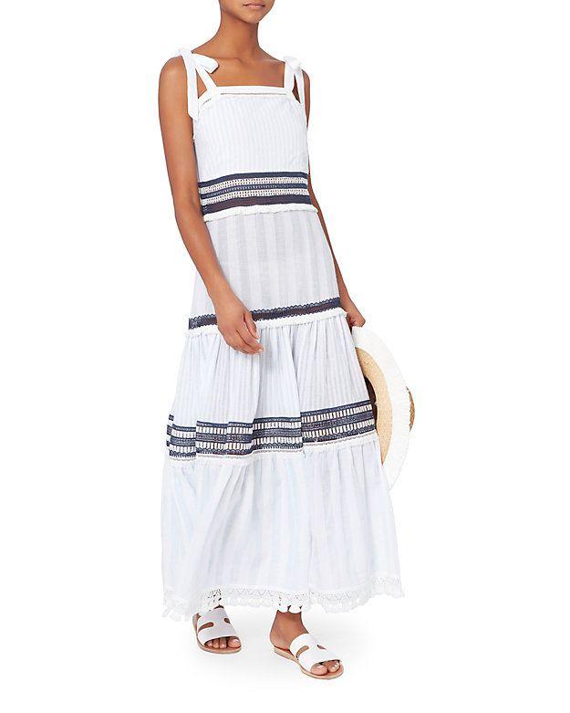7d0da3057d4 Jonathan Simkhai Tiered Stripe Maxi Dress - INTERMIX®