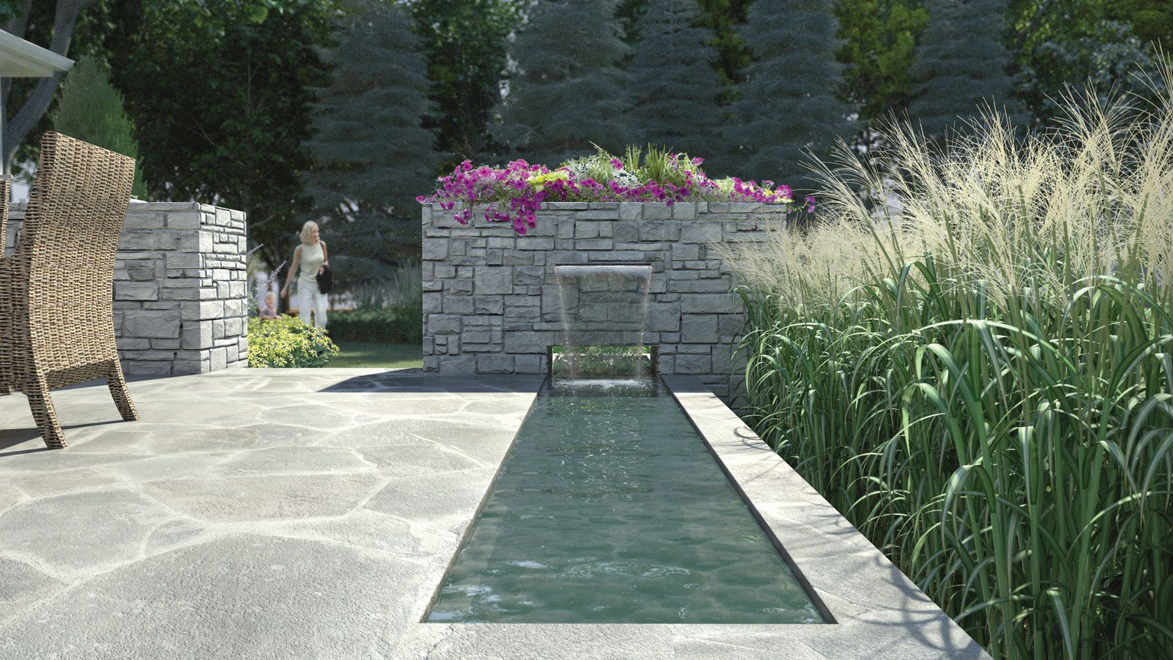 Landscaping With Water Features Landscape Design Landscape Design Services Landscape Plans