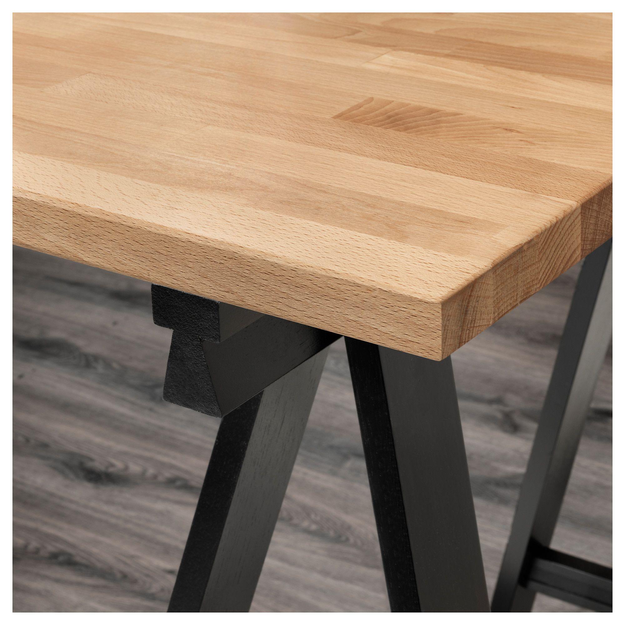 Gerton Tisch Buche Schwarz Weiss Ikea Osterreich Tisch Ikea