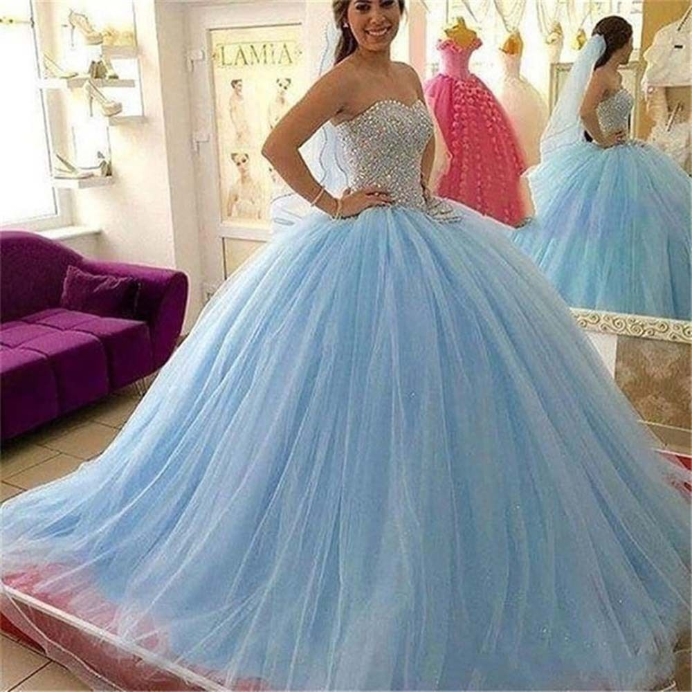 Long tulle quinceanera prom tutu skirts wedding evening party bridal