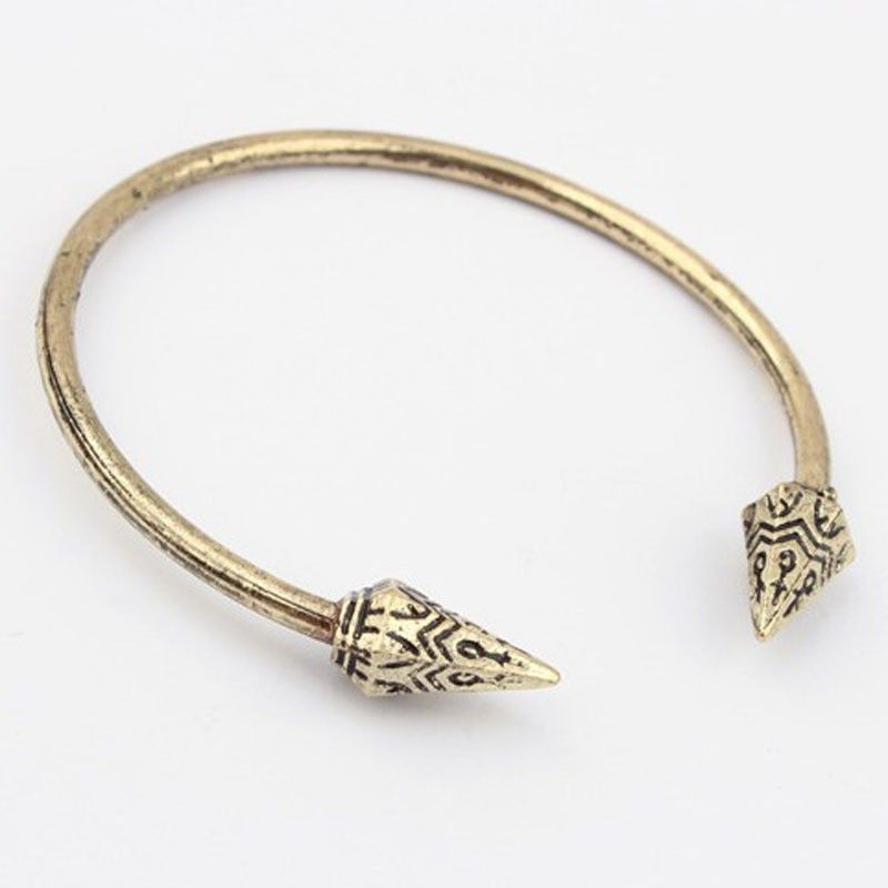 Retro alloy bracelet openings simple exaggerated fashion tapered Bracelet Gold DC13E1101
