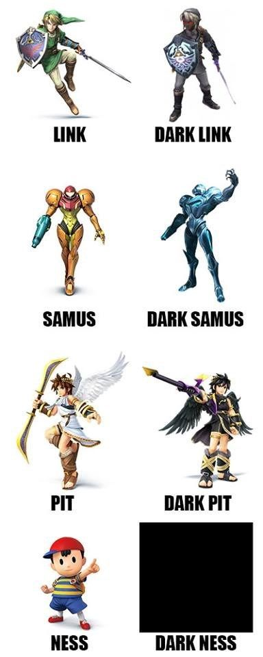 There S A Dark Side To Every Nintendo Character Super Smash Bros Memes Video Games Funny Video Game Memes