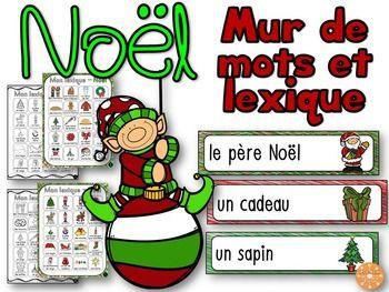 Noël French Christmas Mur De Mots Et Lexique 42 Mots