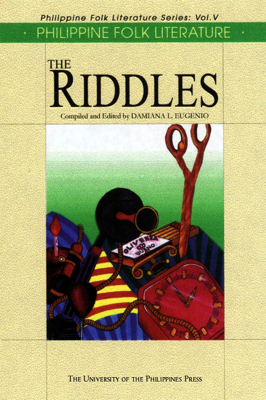 A book on Philippine Folk Literature. Riddles are defined