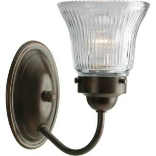 Check out the Progress Lighting P3287-20 Economy Fluted Glass 1 Light Bathroom Lighting in Antique Bronze priced at $21.87 at Homeclick.com.