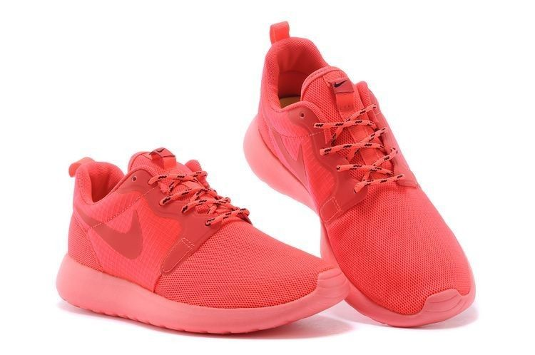 Nike Roshe Run Hyperfuse 3M Chaussures De Running Rouge Pastel classique
