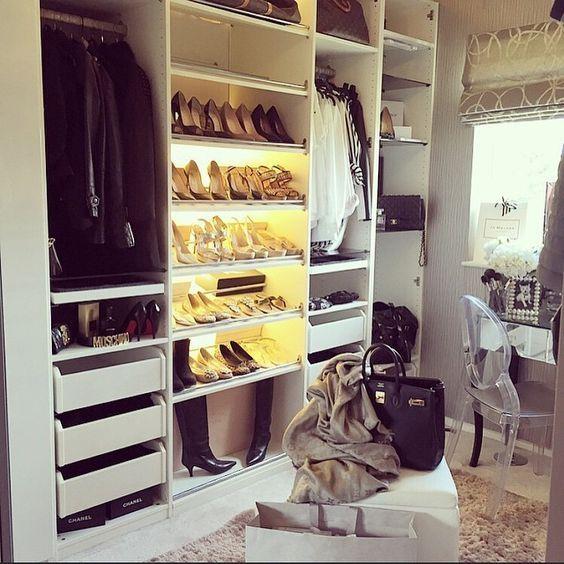 Ikea PAX System als Schuhschrank DRESSING ROOM Ankleidezimmer - begehbarer kleiderschrank modular system