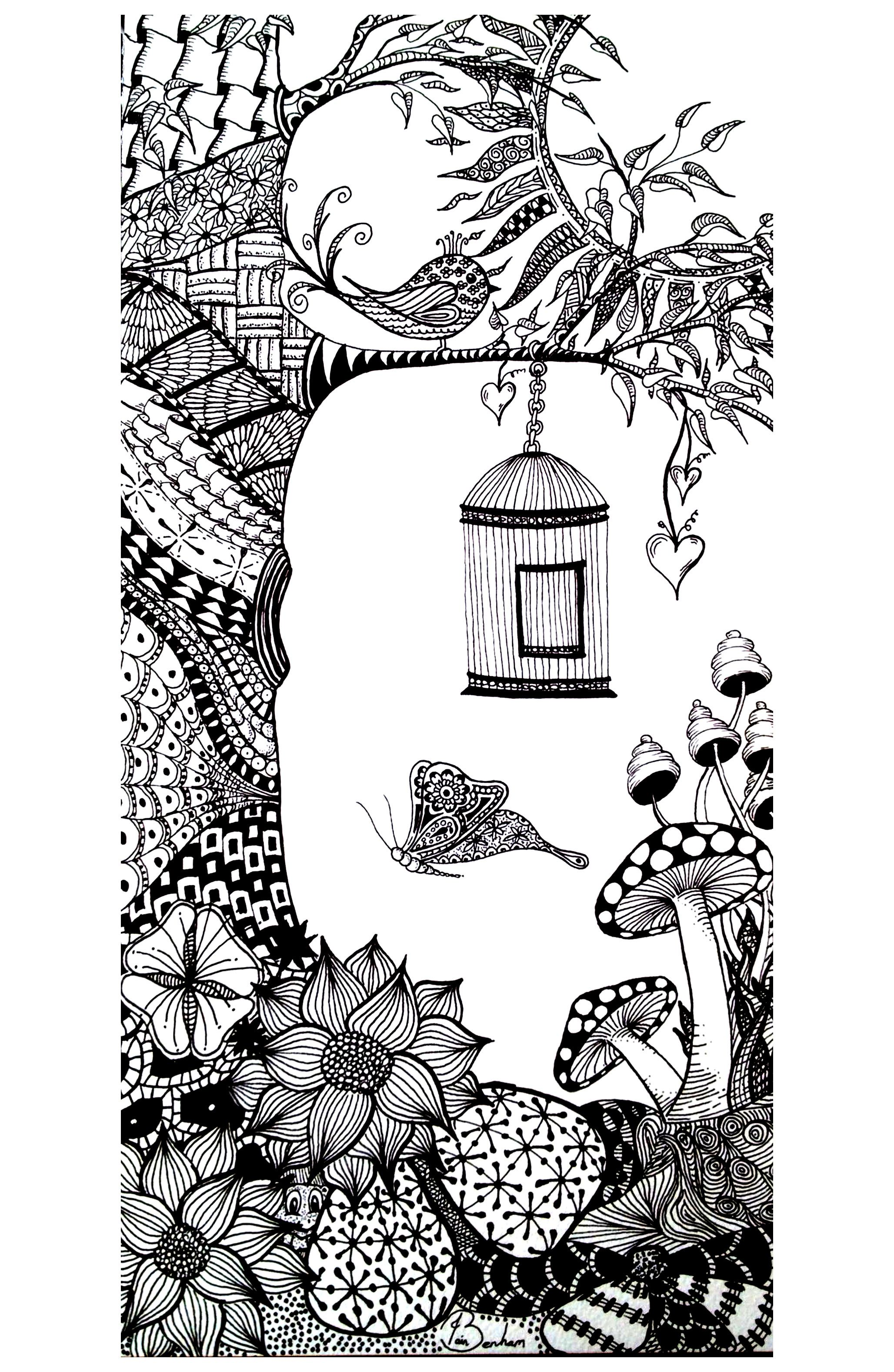 To print this free coloring page «coloring-adult-vegatation ...